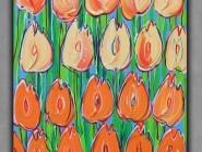 Pomarańczowe tulipany 40x30 Dwurnik Edward